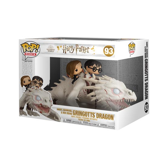 #093 - Harry, Hermione and Ron riding Gringotts' dragon | Popito.fr