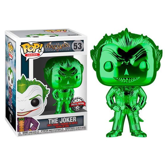 #053 - Batman: Arkham Asylum - The Joker (green chrome) | Popito.fr