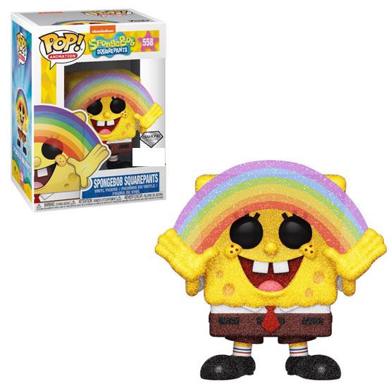 #558 - SpongeBob SquarePants - SpongeBob SquarePants (rainbow) (diamond) | Popito.fr