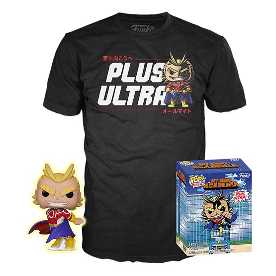 Box - T-shirt - #608 - My Hero Academia - All Might (Silver Age) (glow in the dark) | Popito.fr