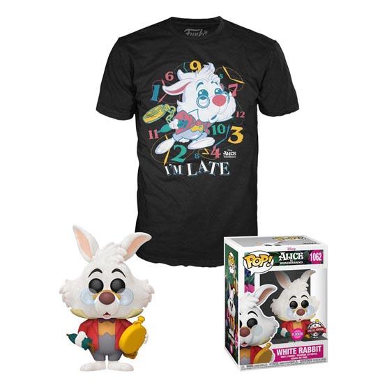 Box - T-shirt - #1062 - Alice in Wonderland - White Rabbit (flocked)   Popito.fr
